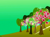 Mlp Hill Apple Trees Background Image